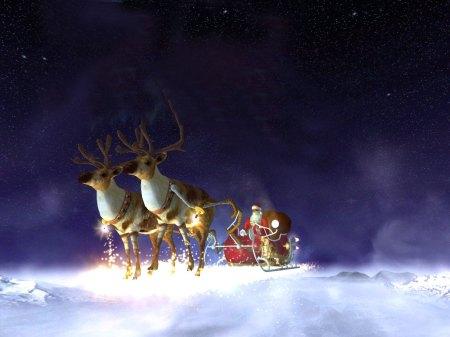 santa-christmas-deers